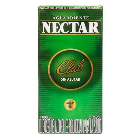 Aguardiente Nectar Club Litro Caja x 1000ml