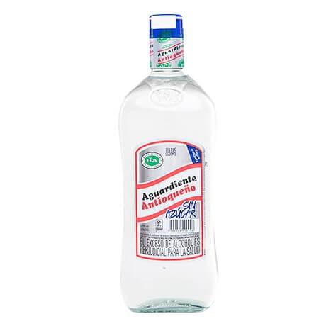 Aguardiente Antioqueño sin Azúcar Botella Litro x 1000ml