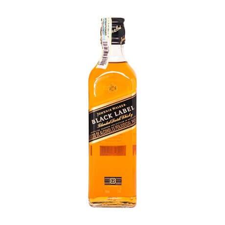 Whisky Sello Negro Johnnie Walker 12 Años Media Botella x 375ml