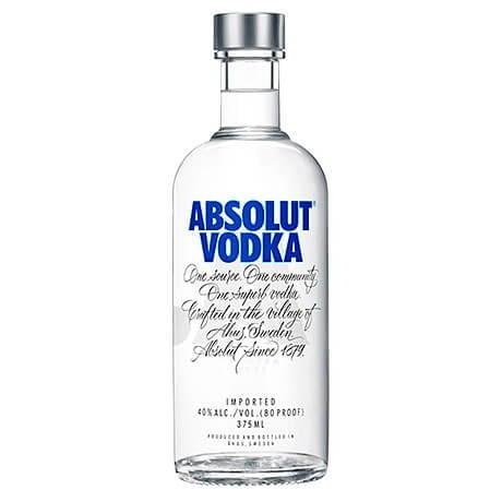 Vodka Absolut Media Botella x 375ml